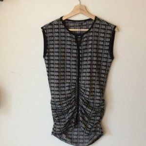 NWT Adrianna Papell Keyhole Rouche Top